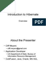Introduction to Hibernate
