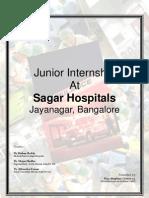 Internship at Sagar Hospital Final Report 2008 09 by Rijo Ste 1382