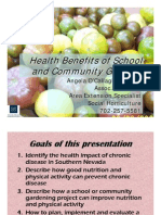Health Benefits of School and Community Gardens