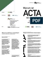 Acta Edri Broschuere Deutsche Uebersetzung