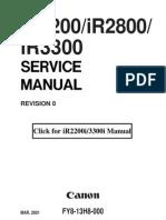 CSMC25M-Canon Ir2200 2800 3300 Service Manual