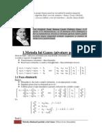 Metoda lui Gauss (pivotare parţială)