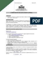 COEFICIENTE DE EXPANSI%D3N LINEAL. TD