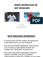 Workload Monitoring Fast Bowl NOTES