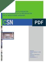 Procedimiento Para La Evaluacion de Incertidumbres en La Determinacion de La Radiacion Ambiental