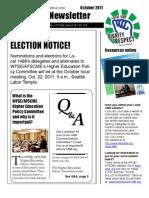 Local 1488 Newsletter, Oct 2011