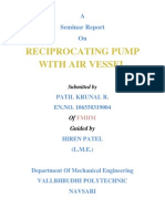 Reciprocating Pump with Air vessel