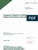 NASA Calculation for Stirling Engine