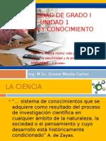 Tema 1 Ciencia y Conocimiento