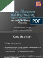 Yapı Statiği Projesi Anlatımı