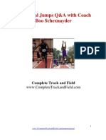 Track and Field Horizontal Jumps Training
