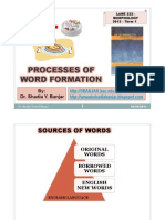 Processes of Word Formation - Morphology-lane 333-2012- Dr. Shadia