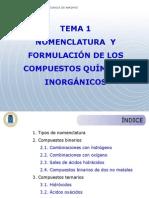 Tema 1 ion y Nomenclatura Inorganic A