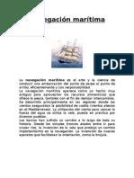 Historia de La Navegacion Maritima y Aerea