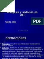 Analgesia y Sedacion en Uti