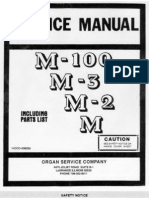 Hammond Organ Service Manual Models M