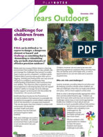 Risk and Challenge for Children from 0-5 Years