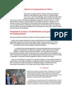 Distribución y redistribución en la independencia de México