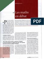 Apprendre les maths par le débat