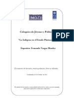 Lo indígena en el Estado Plurinaciona - Fernando Vargas Mendez