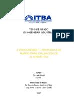Tesis E-Procurement Propuesta de Marco Para Evaluar Alternativas