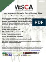 MiSCA 2012 Race Schedule