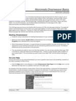 Macromedia Dreamweaver Basics