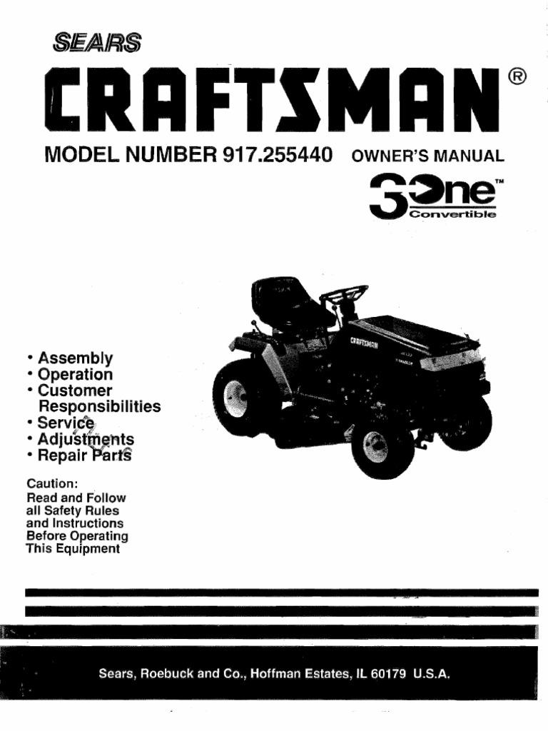 Wiring Diagram Craftsman Model 917 273820 Detailed Lt1000 Lawn Tractor Diagrams 20378