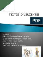 TEXTOS DIVERGENTES