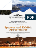 InterSpeech 2012 Sponsorship Brochure
