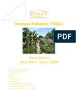 TWIGS 2008 Annual Report - Therapeutic Work in Gardening
