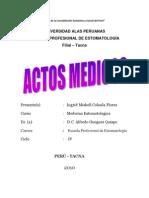 ACTO MÉDICOS
