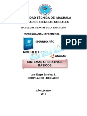 Sistemas Operativos Modulo Sistema Operativo Hardware De