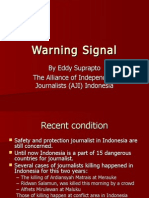 Eddy Suprapto - Warning Signal ( safety of journalists ) - Manila 14 Oct 2011