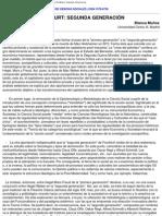 Muñoz, Blanca - ESCUELA DE FRANKFURT_ SEGUNDA GENERACIÓN
