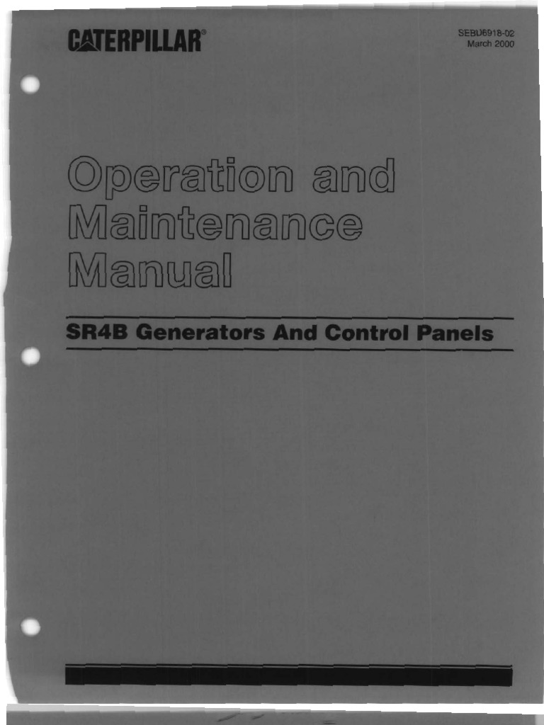 Caterpillar operation and maintenance manual sr4b generators fandeluxe Image collections