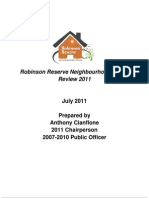 Robinson Reserve Neighbour Hood House Review 2011