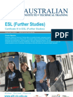 Certificate III in ESL (Further Studies)