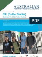 Certificate III in ESL (Further Studies)
