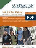 Certificate IV in ESL (Further Studies)