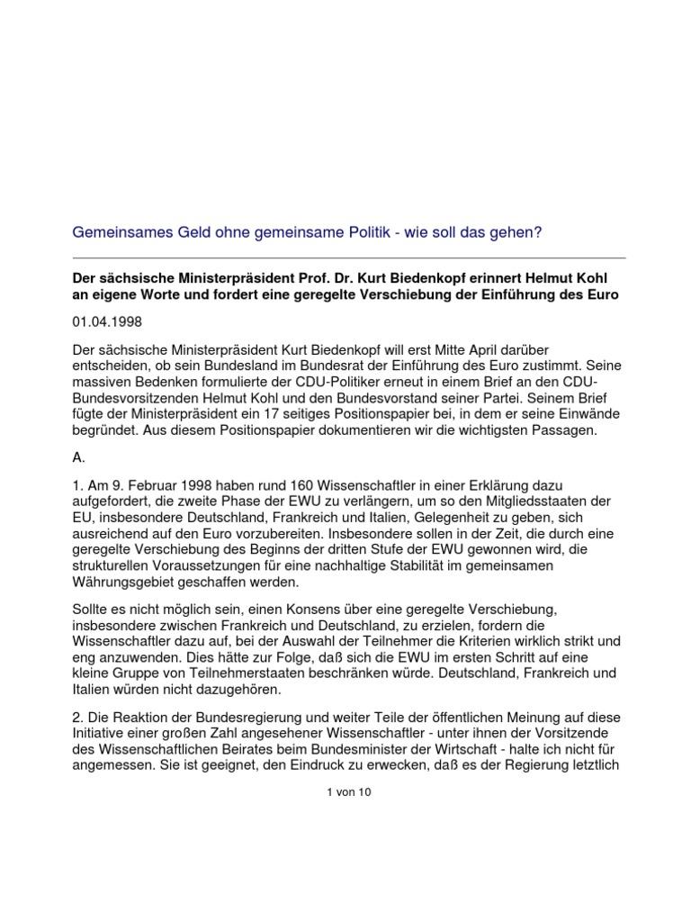 Brief Biedenkopf An Kohl 1 4 1998