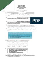 Summative Test Ist (2nd G)