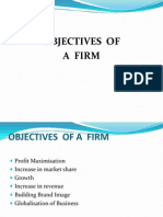 Objectives of Firm