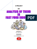 What is the predicted value of the french fast food market in 2009?