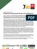 Erfolgreiches Wochenende für den UVC Holding Graz