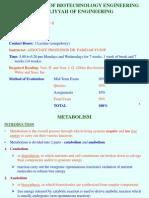 BTE 3430 1 Metabolism 27.06
