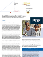Health insurance for India's poor