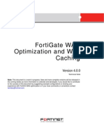 FortiGate WAN Optimization Guide 4.0