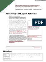 Allen Holub's UML Reference Card