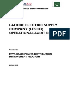LESCO Audit Report Final 03 April26 2011 | Business Process